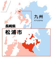 松浦市の地図