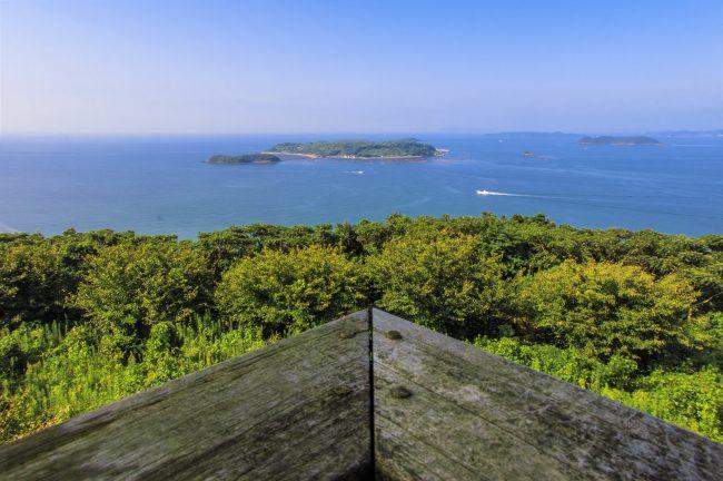 長崎県松浦市星鹿町 城山展望台からの眺め