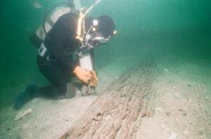 鷹島海底遺跡調査風景