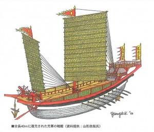 元船の復元予想図