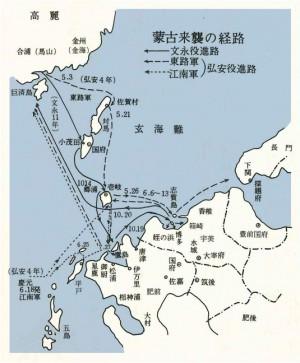 蒙古襲来の経路