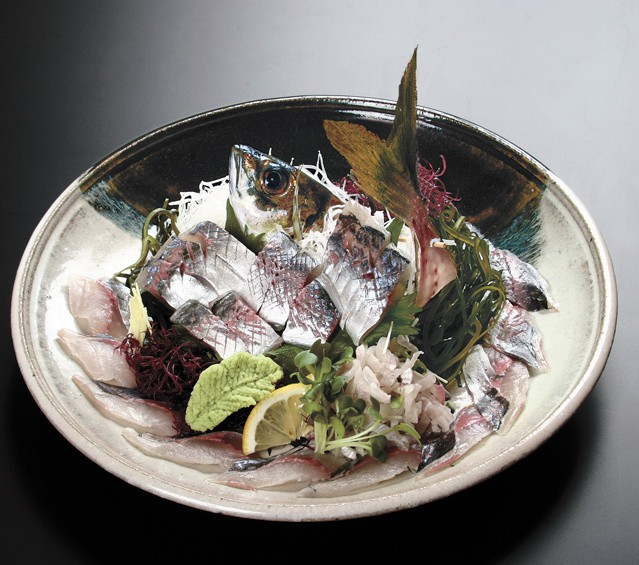 In-season Japanese jack mackerel