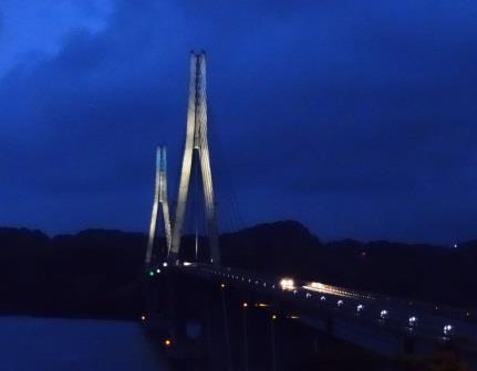 鷹島肥前大橋ライトアップ
