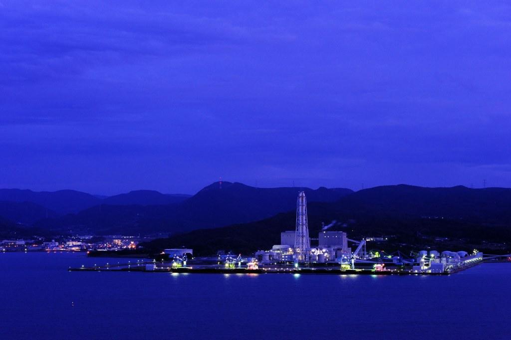 松浦火力発電所夜景